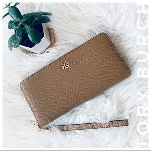 TORY BURCH continental wallet and wristlet